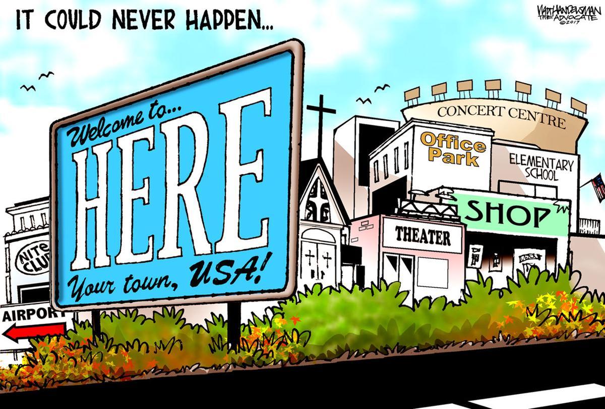 Walt Handelsman: It could never happen...