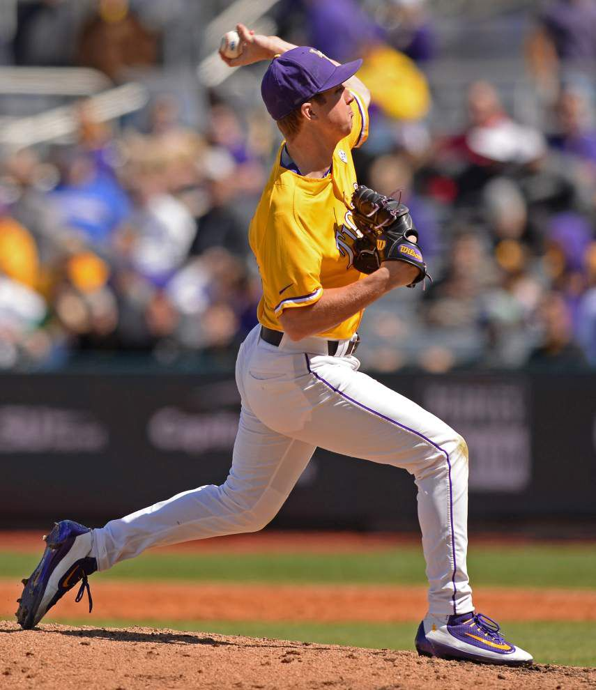 In his first SEC start with LSU, No. 3 starter John Valek impresses again before the Tigers rally to beat Alabama _lowres