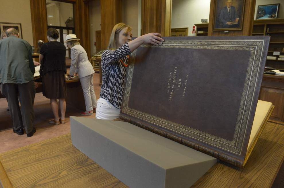 LSU library visitors awed by rare opportunity to view Audubon's 'Birds of America' elephant folios _lowres