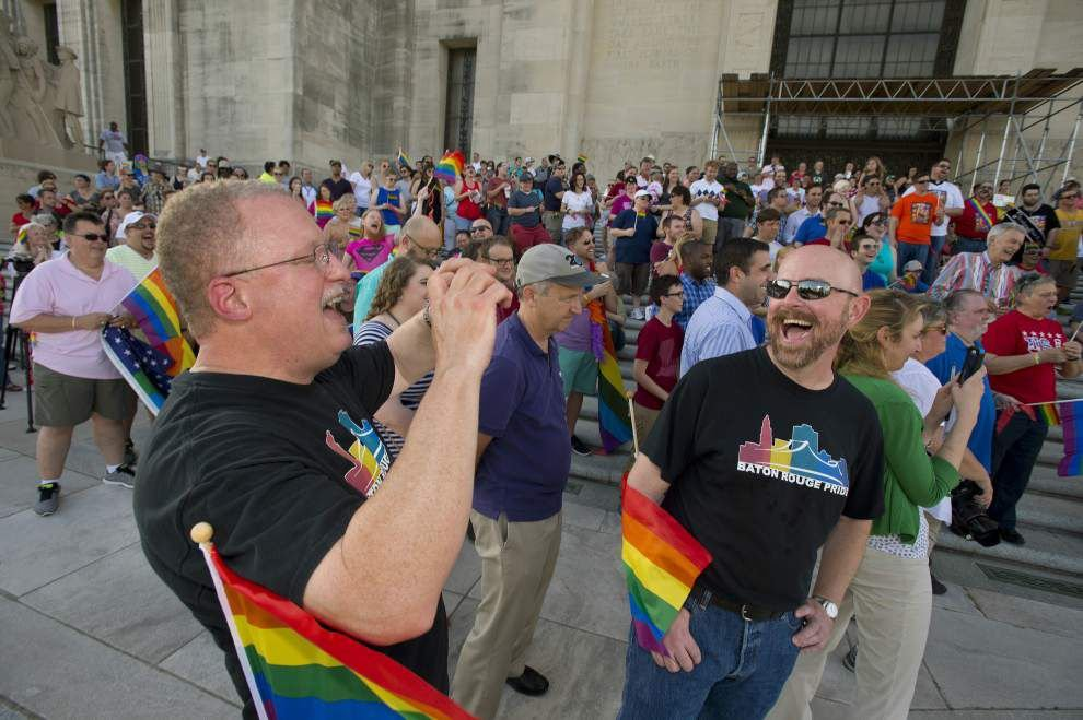 Baton Rouge same-sex couples celebrate Supreme Court ruling, even without Louisiana weddings _lowres