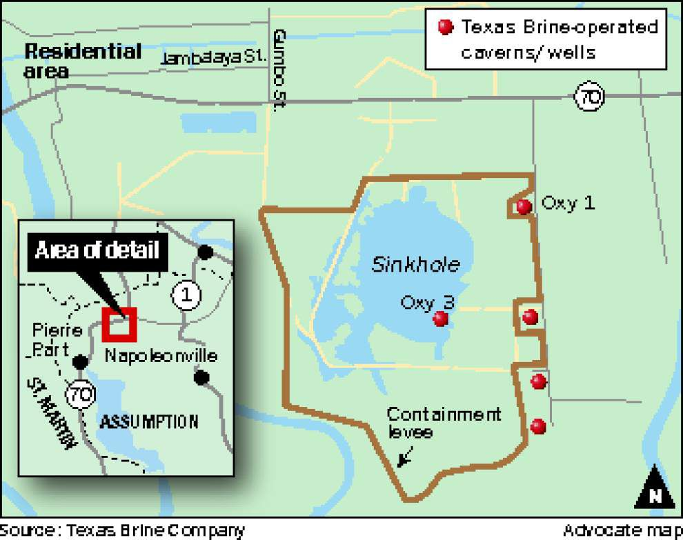 Assumption jurors say no to sinkhole discharge into Grand Bayou, citing environmental concerns, but state officials worried about catastrophic levee failure _lowres