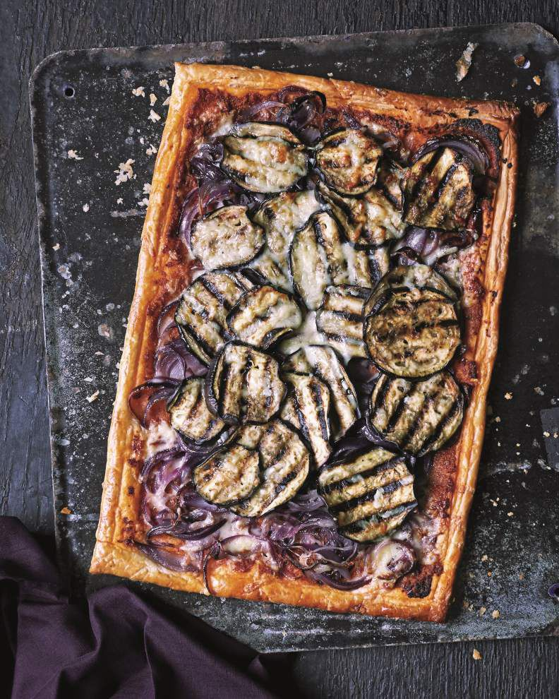 Aubergine and Onion Tart _lowres