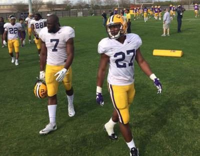 Buga's back: LSU running back Leonard Fournette returns to practice Thursday after minor injury _lowres