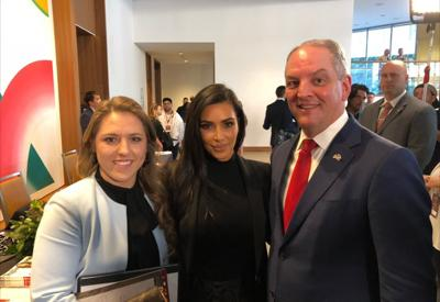 Gov. John Bel Edwards and Kim Kardashian