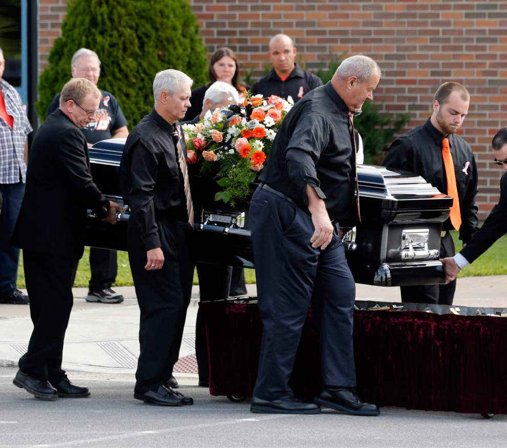 Funeral held for driver hit by Tony Stewart _lowres