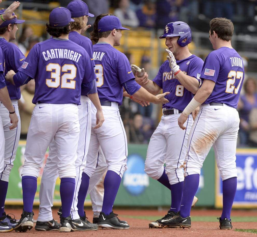 LSU shortstop Alex Bregman erupts; Tigers crush Boston College 16-2 _lowres