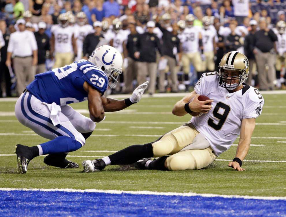 SAINTS CAMP REPORT: Drew Brees misses practice with wife expected to give birth soon _lowres