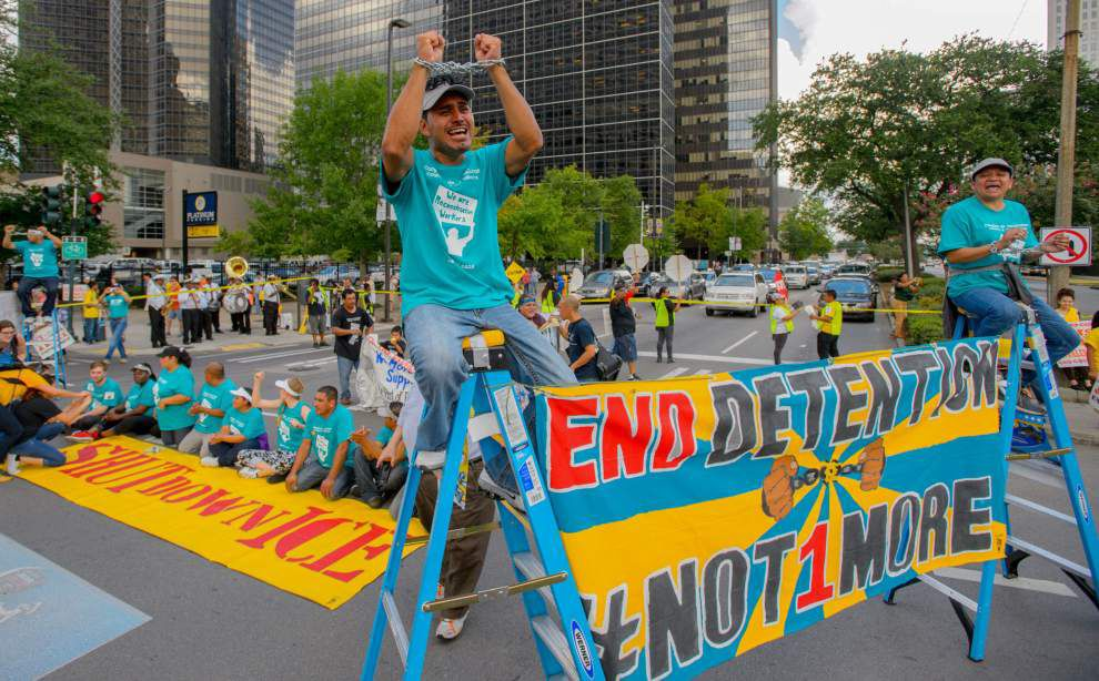 Obama immigration policy draws pitched legal battle, demonstrators to New Orleans _lowres
