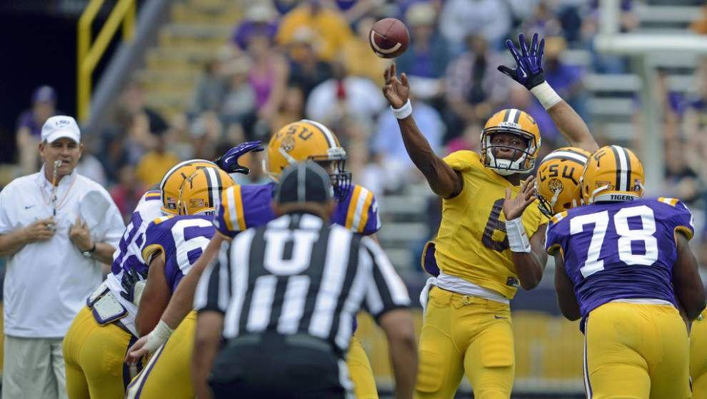 'Be a star in your role': LSU QB Brandon Harris takes a line from LeBron James on leadership _lowres