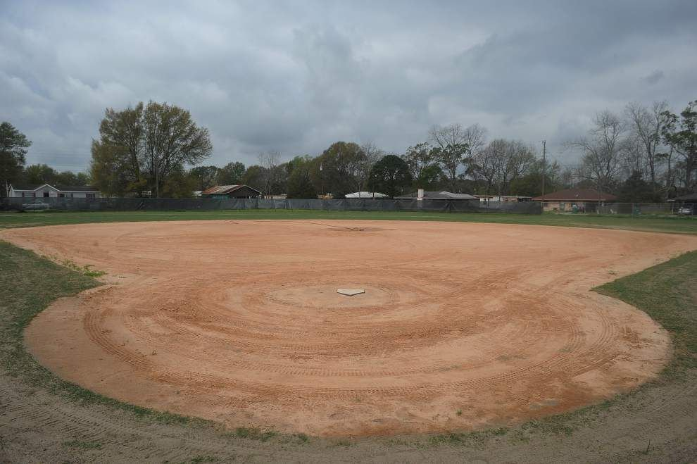 Cecilia's softball field coming together _lowres