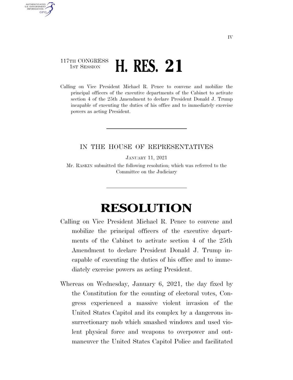 US House Resolution 21