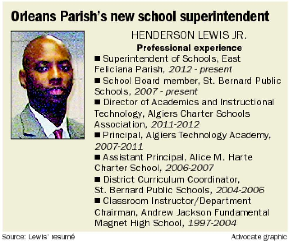 New Orleans superintendent Henderson Lewis Jr. expects schools to return to local control _lowres