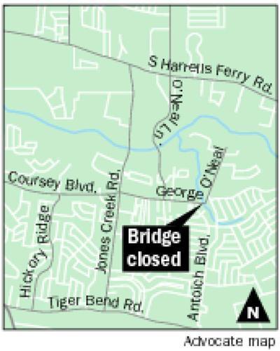 George O'Neal Bridge closed for repairs _lowres