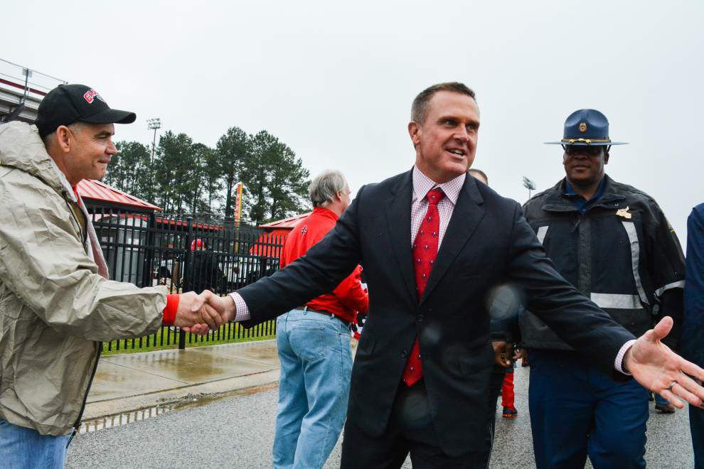 Cajuns gearing up for spring game; coach Mark Hudspeth pleased _lowres