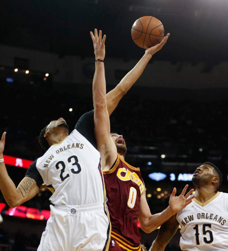 Pelicans work overtime to take down LeBron James and the Cavaliers 114-108 _lowres