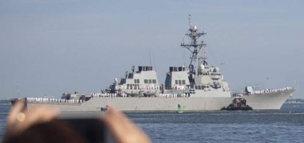 USS Ross leaves for new home port in Spain _lowres