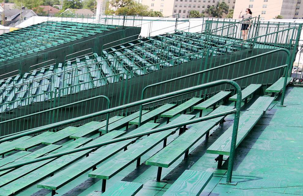 Quint Davis on the 2016 New Orleans Jazz Fest's huge green bleachers: They're 'new on a big scale' _lowres