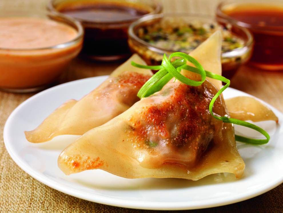 Chinese Beef Pot Stickers With Maple-Wasabi Dipping Sauce _lowres