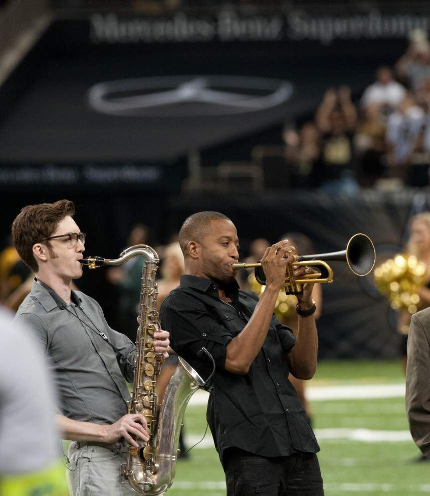 New Orleans musicians take on pregame National Anthem with reverence and a touch of nerves _lowres