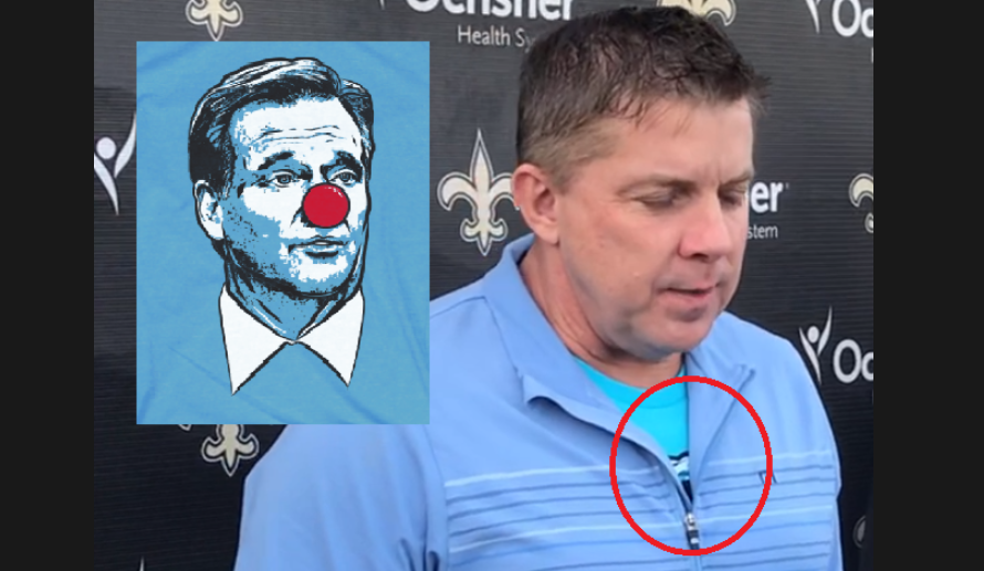 Was Sean Payton wearing a Roger Goodell clown shirt  It certainly appears  that way  729078acb