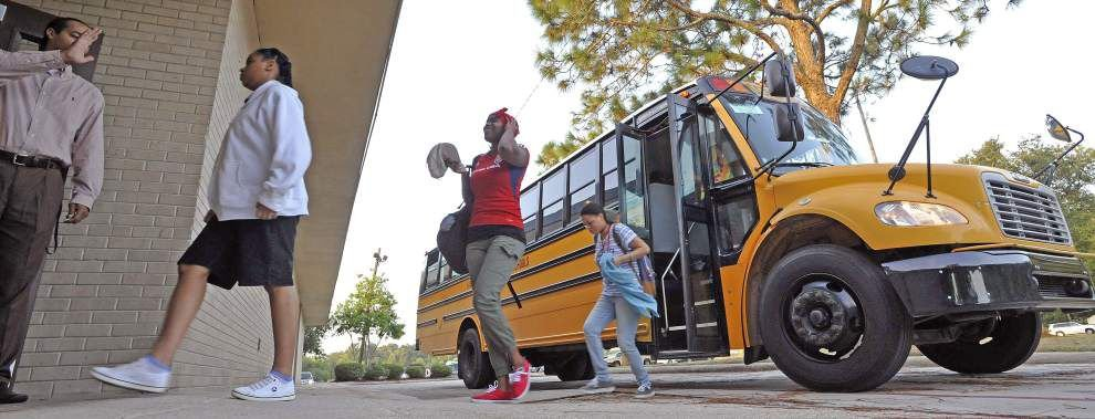 Photos: Amid sweltering heat, first-day jitters, thousands of East Baton Rouge students return to school _lowres