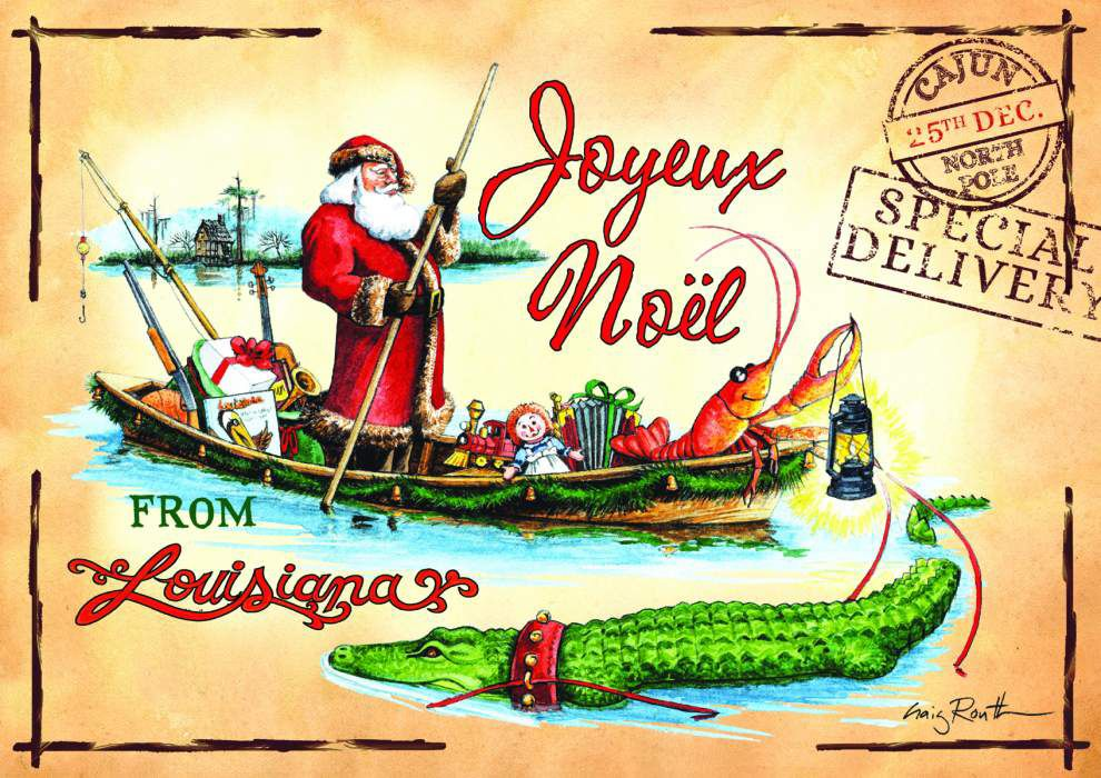 Routh family puts its own Cajun spin on the holiday cards ...