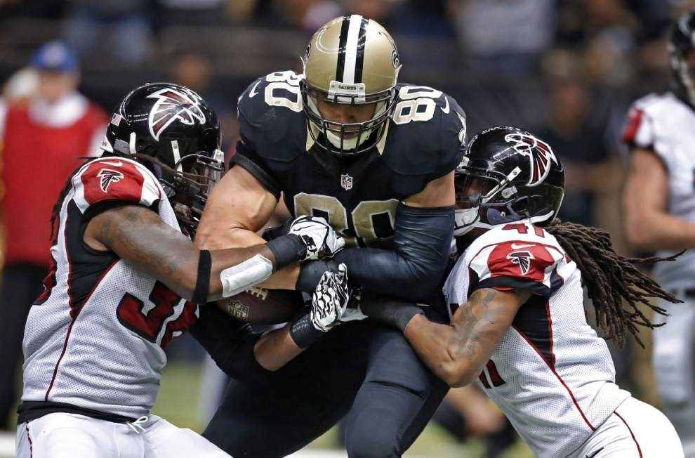 Rabalais: Jimmy Graham's goal-line gaffe sums up the Saints' lost season perfectly _lowres