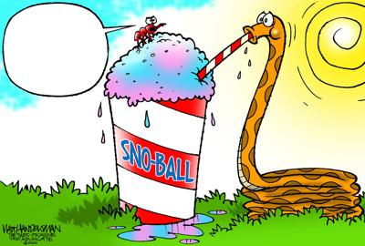 You'll NEVER believe who's chillin' with a sno-ball in Walt Handelsman's latest cartoon caption contest!