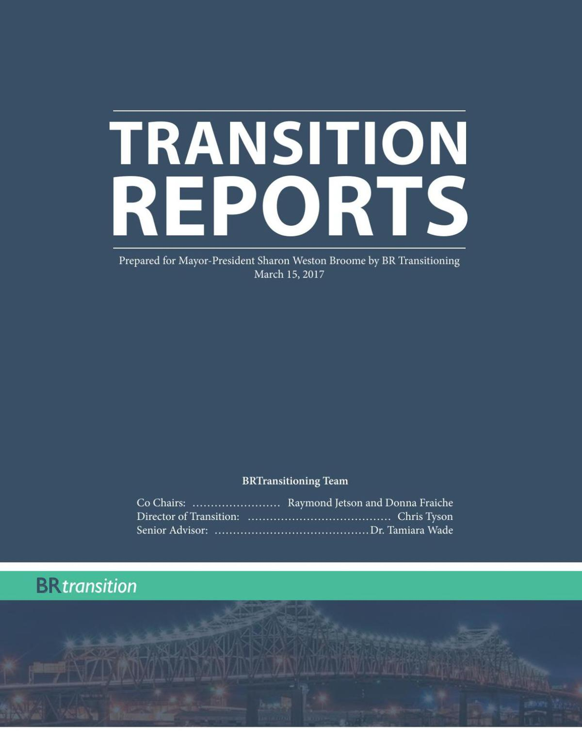 Transition Reports