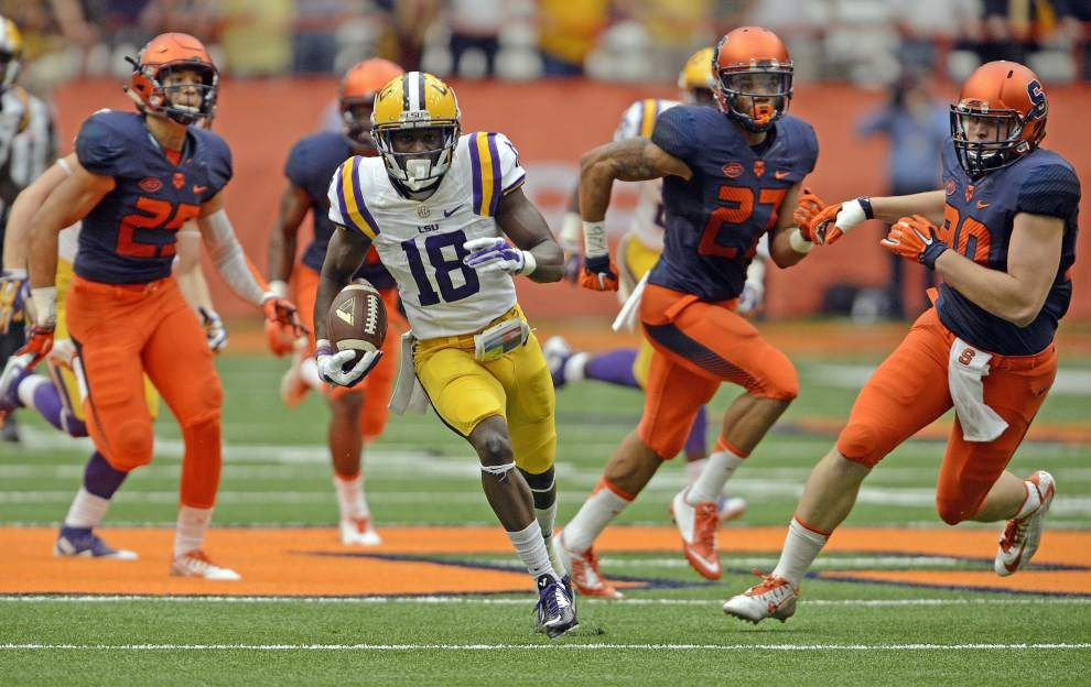 Tre'Davious White returns punt 69 yards for touchdown at crucial moment for LSU in 34-24 win at Syracuse _lowres