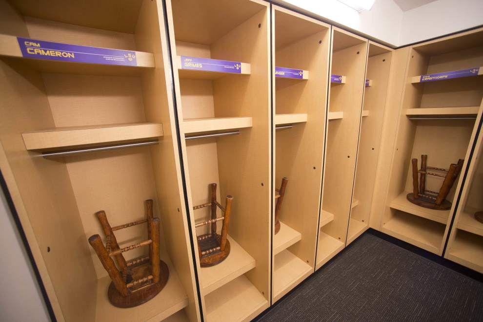 Look Inside Lsu Locker Room Pristine Helmets Perfect