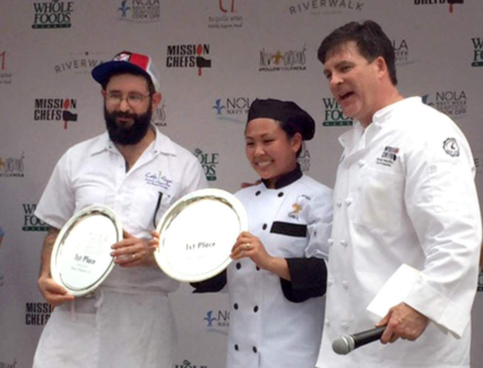 Chefs from the U.S.S. Wasp and Café Hope Win the Seafood Battle of New Orleans _lowres