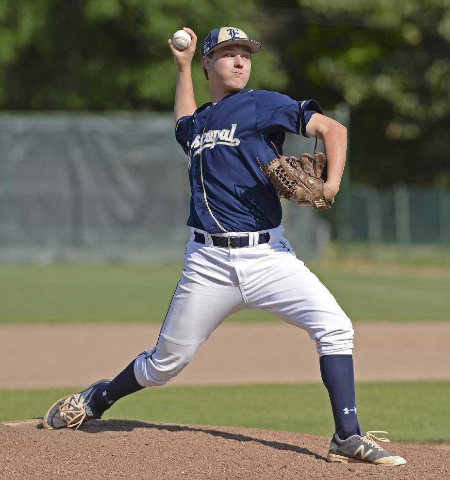 Episcopal pitcher Chris Thibodaux maintains poise as Knights blank Runnels 3-0 _lowres