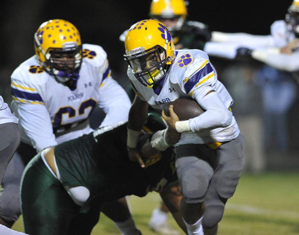 Photos: Notre Dame tops Calvary Baptist, Cecilia falls to Edna Karr in Acadiana prep football _lowres