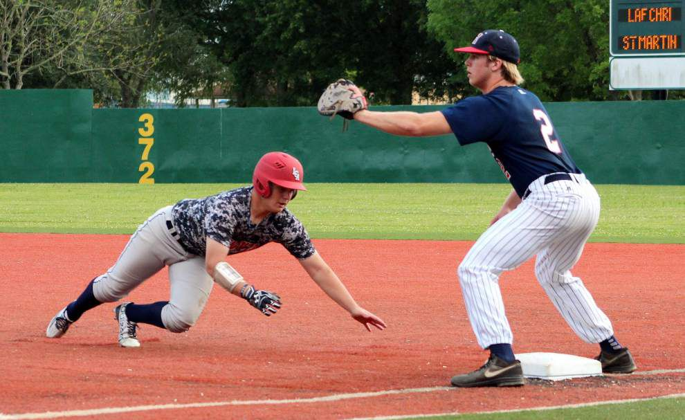 St. Martin's tops Lafayette Christian 8-3 in Class 1A baseball playoffs _lowres