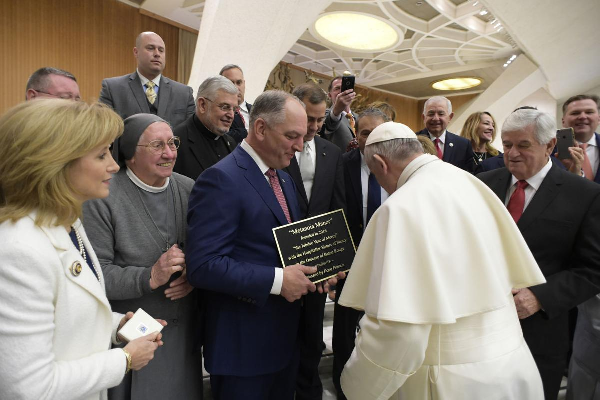 Gov John Bel Edwards with Pope.jpg