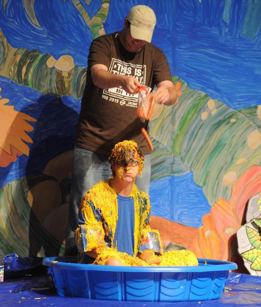 Vacation Bible School ends in   messy fun _lowres