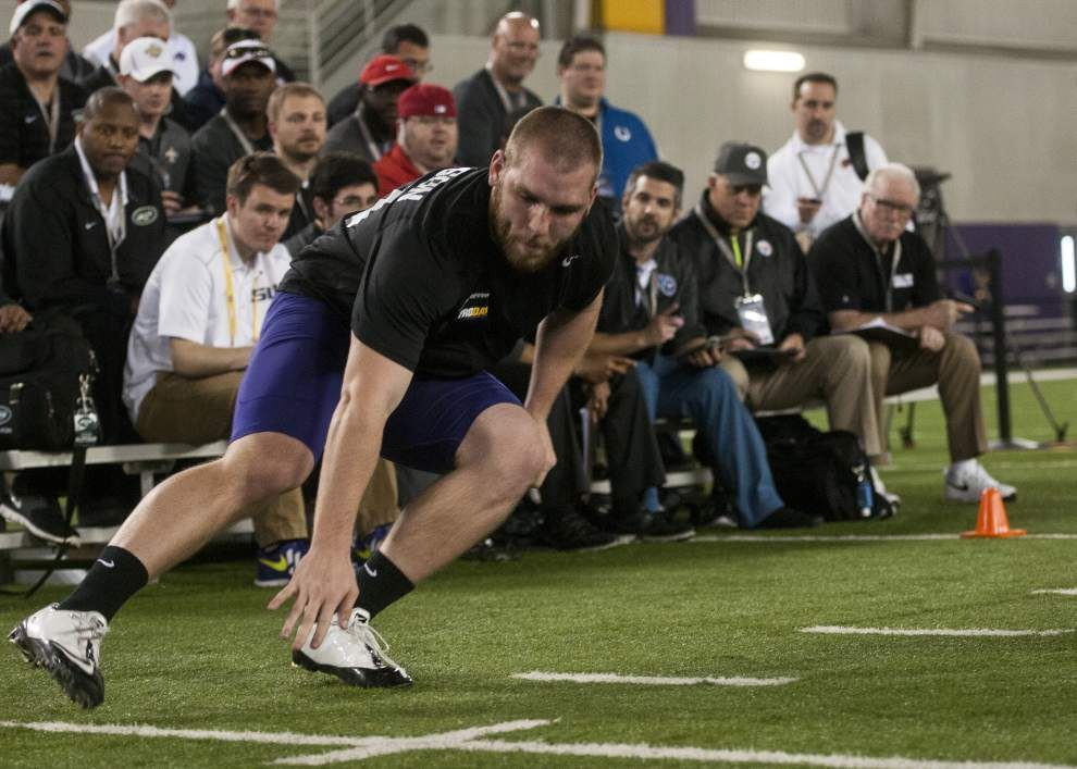 'What the hell?!' Deion Jones blazes to 4.38 40-yard dash time as LSU pro day star _lowres