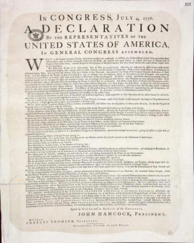 Bill to mandate that students recite part of Declaration of Independence clears House panel _lowres