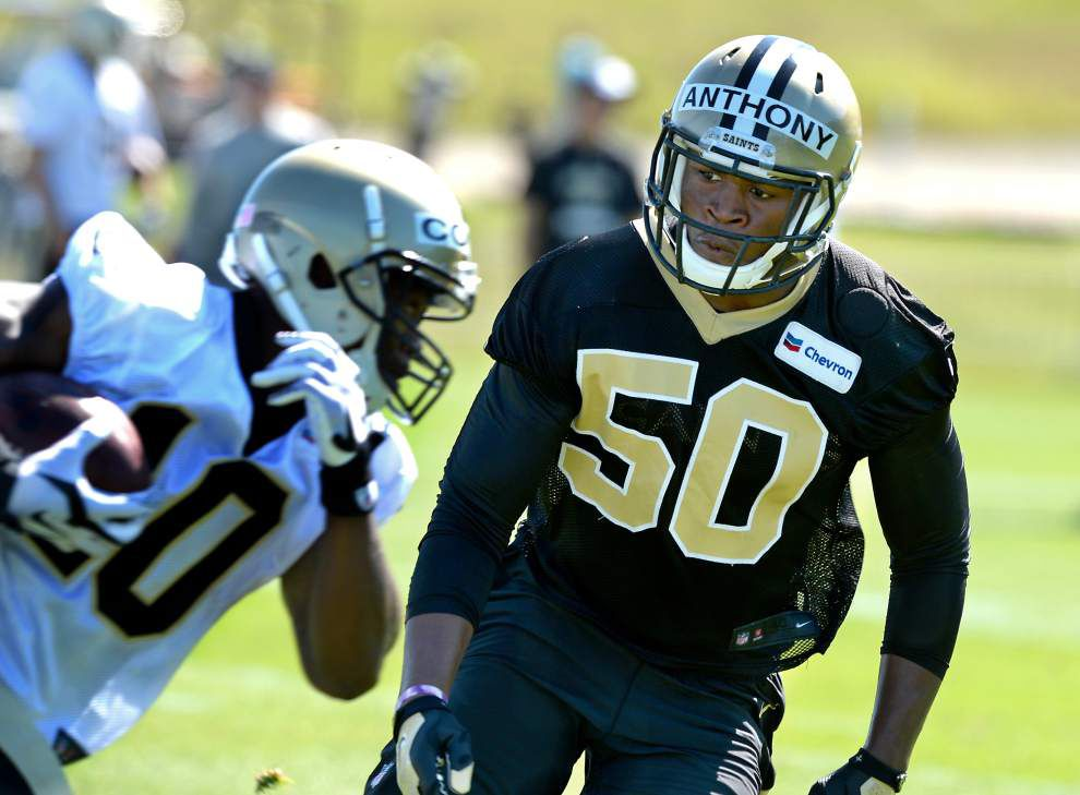 Rookie linebackers Stephone Anthony, Hau'oli Kikaha get their chance with Saints' starters _lowres