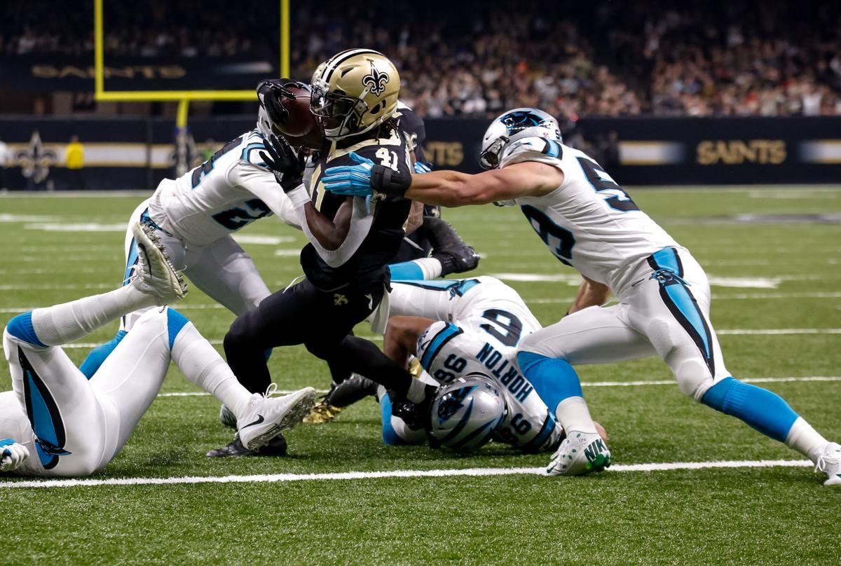 carolina panthers linebacker on facing hitting alvin kamara 39 oh he 39 s going to feel it. Black Bedroom Furniture Sets. Home Design Ideas