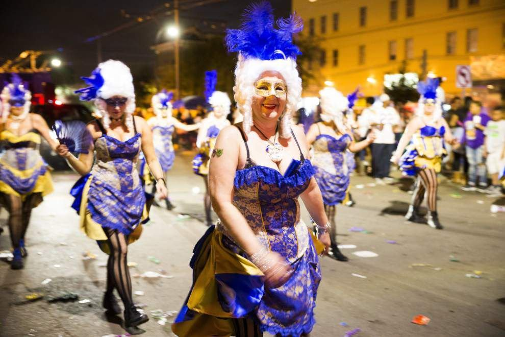 Photos: Costumes, beads and daytime fun Sunday as Carnival rolls down streets of New Orleans _lowres