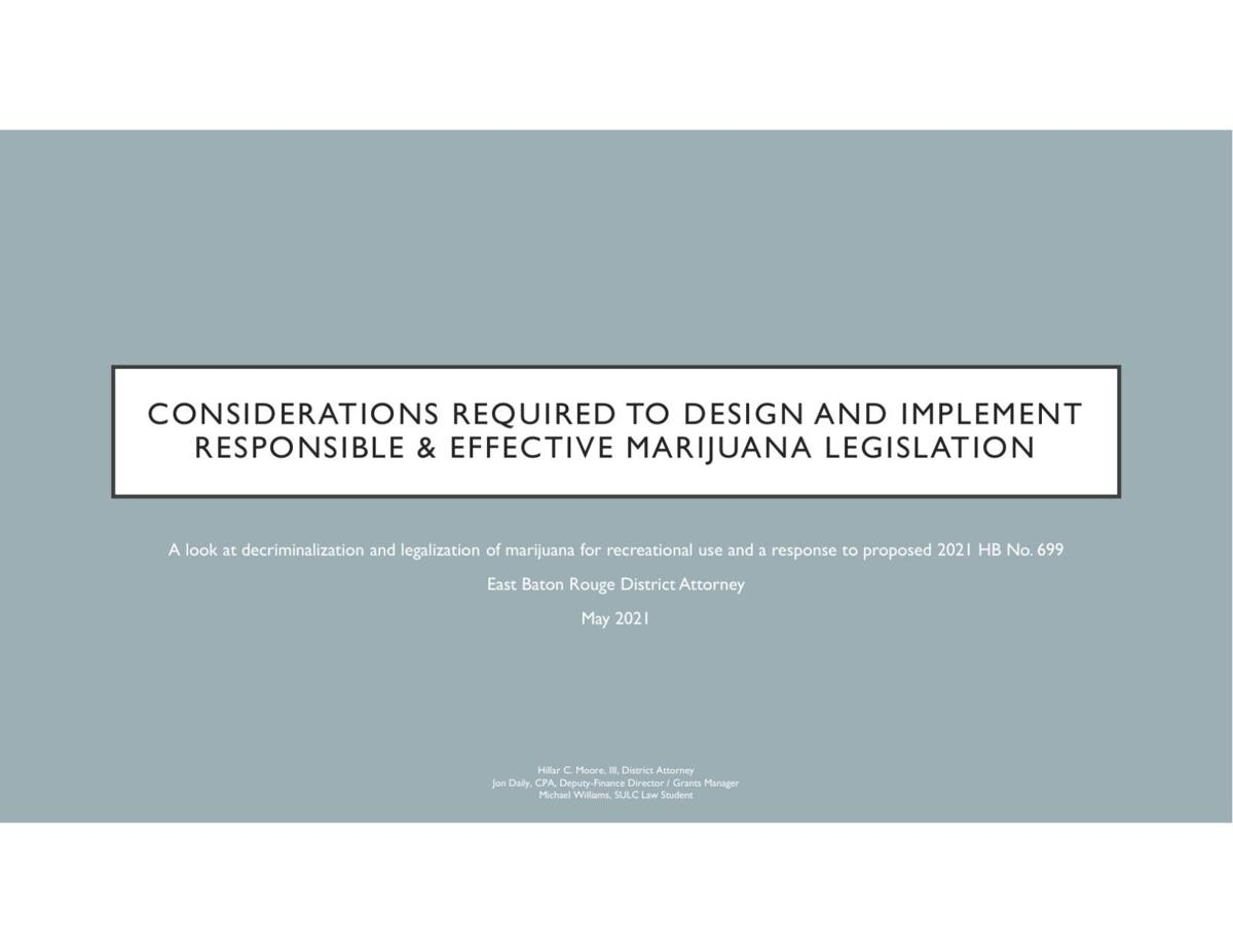 DA's report on marijuana legalization