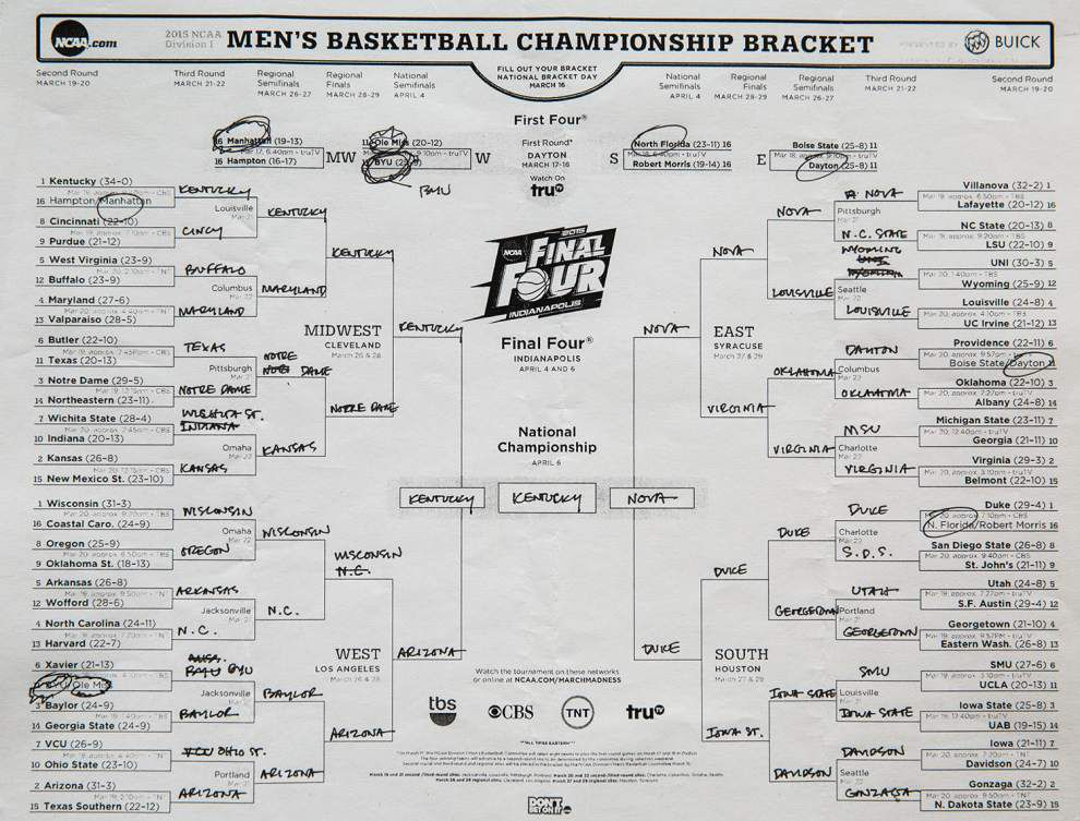 Barack Obama doesn't pick LSU to go very far in his NCAA tournament bracket _lowres