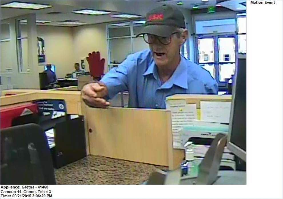 Senior citizen arrested for armed robbery at Gretna bank on Monday _lowres
