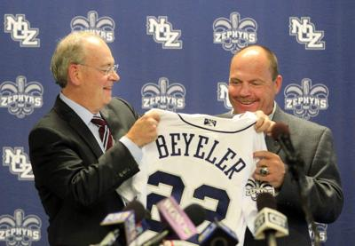 Zephyrs introduce new manager Arnie Beyeler _lowres