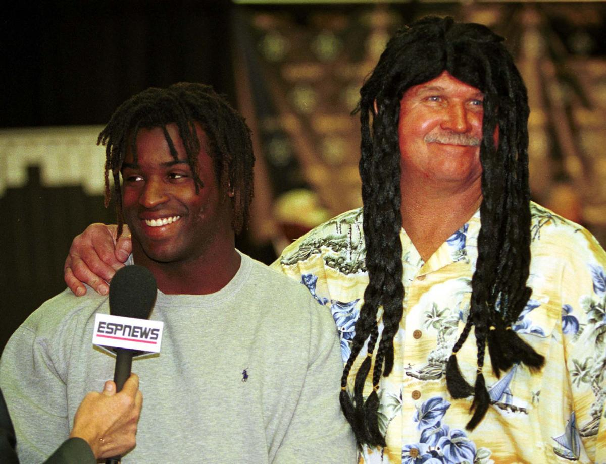 Ricky Williams and Mike Ditka... 04/18/99