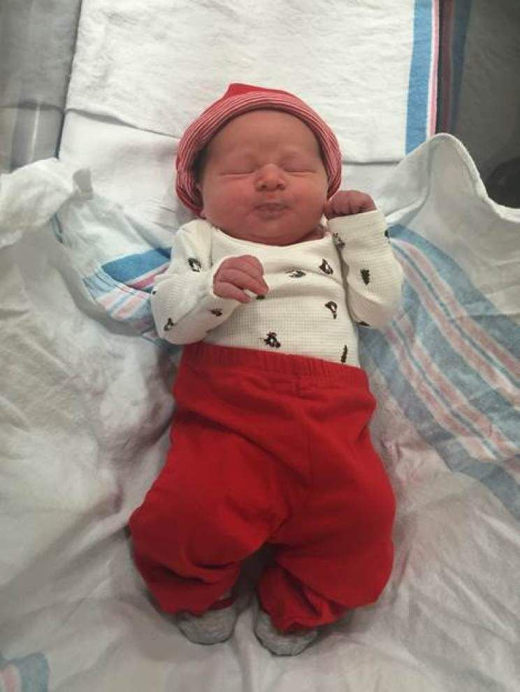 Baton Rouge hospitals welcome three cuties shortly after midnight on New Year's day _lowres