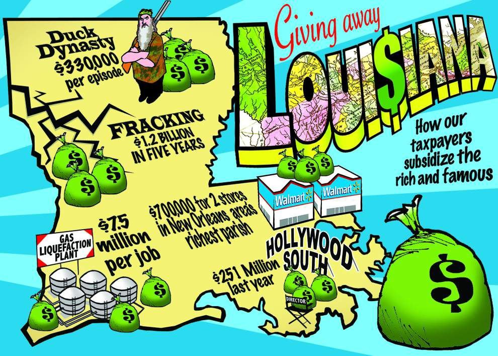 Giving Away Louisiana, Part 1: Tax giveaways that total more than $1 billion a year are blowing an ever-larger hole in state budget _lowres