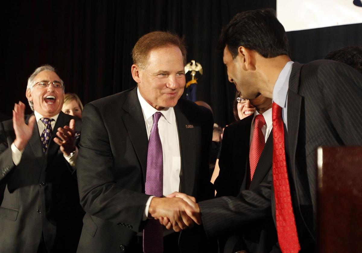 Les Miles and Bobby Jindal